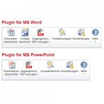 Plug-ins menu that features Word and PDF options.