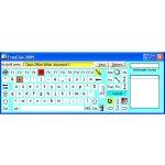 On-screen keyboard that includes function keys, arrow keys, and menu options.