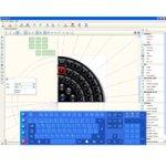 Screenshot of Touch-It Virtual Keyboard and design menu.