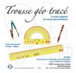 A ruler, a protractor, a compass, and a pencil with the company name above.