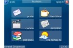 Eldy menu with email, movies, books, news, and weather