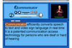 textbox, video of person signing and pause play functions for audio