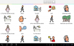 little red riding hood story with pictograms to go with each word