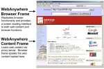 WebAnywhere browser Frame and content frame