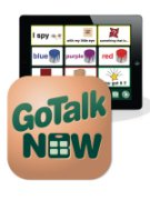 GoTalk NOW app icon and ipad screen