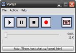 Toolbar featuring play, pause, stop, and record options.