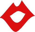 eSpeak logo is an open mouth drawn by showing thick red lips.