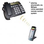 IR Quickphone remote and traditional phone handset with buttons