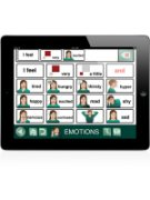 GoTalk NOW pictographic emotions menu.