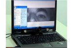 User's eye focus appears on computer screen