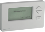 Thermostat with display screen and control options of increasing and decreasing the temperature along with the menu button.