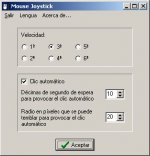 Window with menu options.