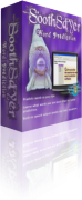 Angled view of purple colored software box with an image of a wizard holding a crystal ball.