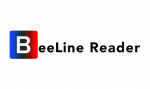 Logo of BeeLine Reader featuring Capital B in a square that has multi-gradient colors and is followed by the rest of the name, written in black text font.