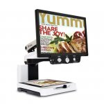 Viewing screen and document scanning platform.