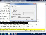 Duxbury Braille Translator screenshot including a text pop up print menu and braille output in the background.