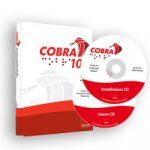 COBRA 11 software packing, including two red and white branded discs with packaging, both of which spell out COBRA in braille.