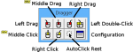 Dragger toolbar showing a double click, right click, middle click, or left, right and middle drag.
