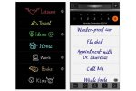 Screenshot of the app with handwritten text.