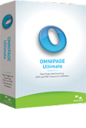OmniPage Ultimate Software box.