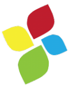 Logo of AAC Institute in the shape of a color clover-like design with each petal a different color.