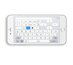 Remote Mouse on a smartphone device featuring an onscreen keyboard that takes the full display area in landscape.