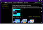 A screenshot of a Windows browser in high-contrast mode, which features a black background and white and yellow font.