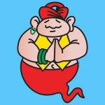 App icon of cartoon genie.