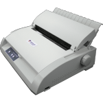 Braille printer with tray for paper and control buttons along bottom panel.