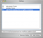 Screenshot of add/remove CCHotkey menu.