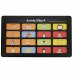 Tablet device with 16 different picture icons.