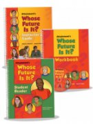 Red Instructor guide, red Workbook, red DVD, and green Student Reader book.