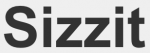 Sizzit logo as the name written in a thick black text font.