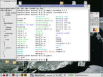 Screen shot of a Command Prompt with a list of files available in a directory and a list of commands.