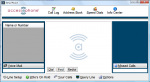 """Screenshot of a Windows OS desktop application, featuring a menu bar and a three-pane program window. The window features an input box for a contact name and number, as well as a """"missed call"""" log."""