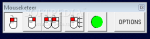 A menu toolbar with various icons displaying different mouse click options.
