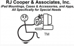 """""""Stick figure"""" person sitting in a wheelchair at a computer. There is a cartoon illustration of another person leaning out of the computer screen waving hello."""