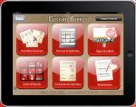 Screenshot of iPad app menu with various template options for creating communication boards.