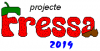 Logo that reads Projecte Fressa in red and green with the year 2019 below it.