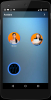 A mobile screen featuring two avatars and a voice icon.