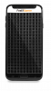 A black smartphone with tactile gridlines over the surface.