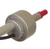 The Lipstick mouth piece consisting of a short straw for blowing into connected to a short, wide cylinder that is wired and connected to a rigid pipe.