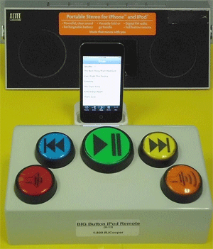 BIG Button Music Remote - Bluetooth | GPII Unified Listing